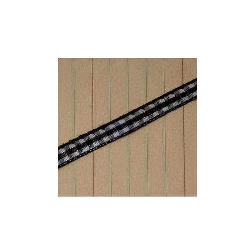 Maya Road - Trim - Mini Gingham - Licorice Black - 25 Yards