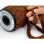 Maya Road - Trim Collection - Grosgrain Pleat Ribbon - Brown - 20 Yards