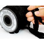Maya Road - Trim Collection - Grosgrain Pleat Ribbon - Black - 20 Yards