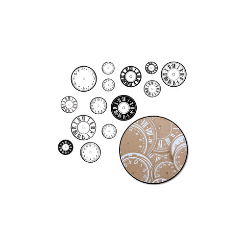 Maya Road - Kraft Clocks - Time Flies - White