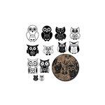Maya Road - Kraft Owls - Black