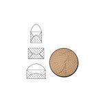 Maya Road - Kraft Note Envelopes - White Polka Dot