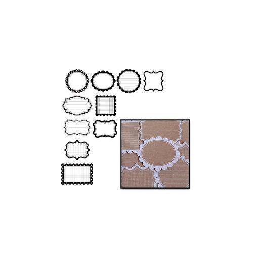 Maya Road - Kraft Decorative Journaling Tags - White