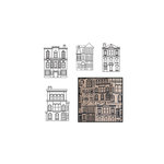 Maya Road - Kraft Die Cut Pieces - Our Town - Black