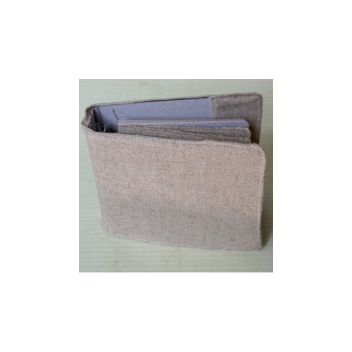 Maya Road - 4 Inch Linen Binder with Linen and Chipboard Pages
