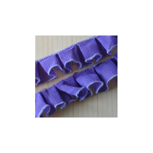Maya Road - Trim - Pleated Gauze - Purple - 25 Yards