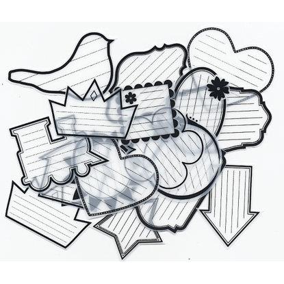 Maya Road - Sheer Office Notes - Black and White