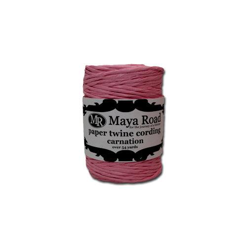 Maya Road - Paper Twine Cording - Carnation