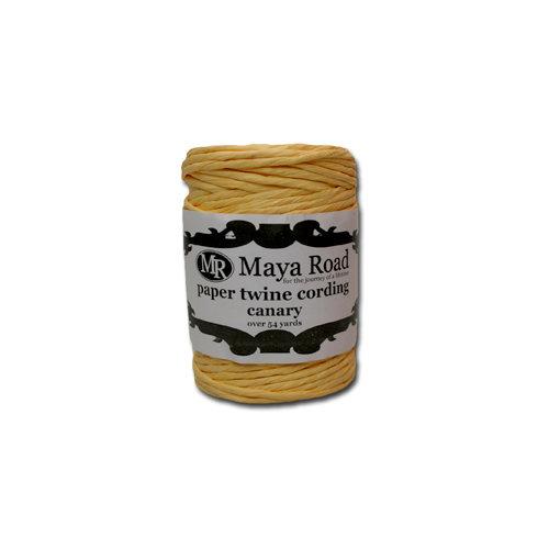 Maya Road - Paper Twine Cording - Canary