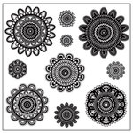 Maya Road - Clear Stamp Collection - Stamp Sheet - Doilies