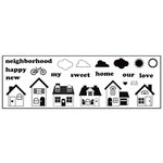 Maya Road - Clear Stamp Collection - Singleton Stamp - My Neighborhood, CLEARANCE