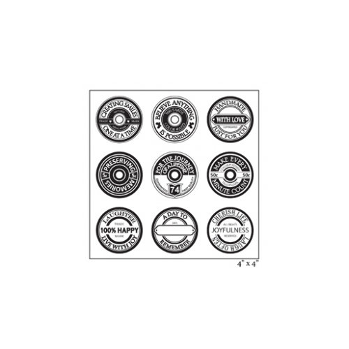 Maya Road - Clear Acrylic Stamps - Spool Sentiments Sheet
