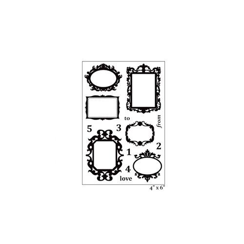 Maya Road - Clear Acrylic Stamps - Ornate Frames