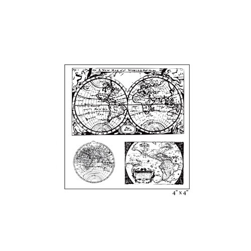Maya Road - Clear Acrylic Stamps - Around the World Sheet