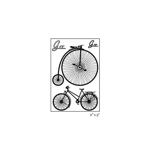 Maya Road - Singleton - Clear Acrylic Stamps - Go-Bike-Go