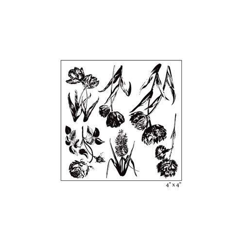 Maya Road - Clear Acrylic Stamps - Ornate Botanicals Sheet