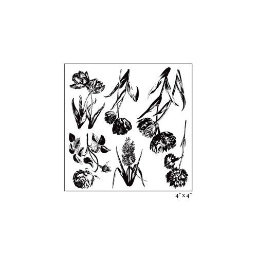 Maya Road - Clear Acrylic Stamps - Ornate Botanicals Sheet