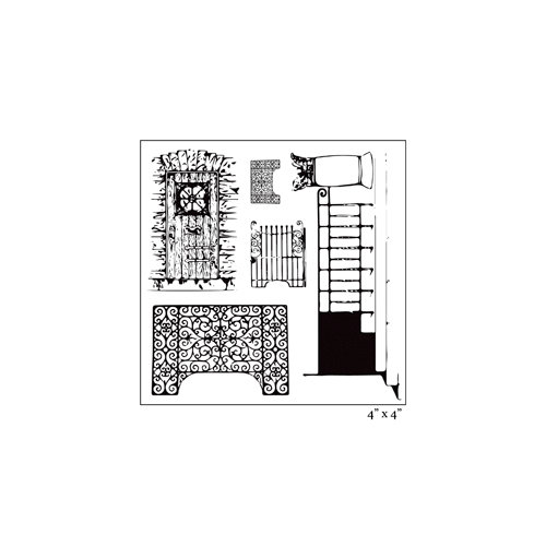 Maya Road - Clear Acrylic Stamps - Vintage Fences and Doorways