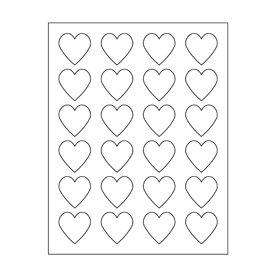 Maya Road - Kraft DIY Stickers - 1.5 Inch Hearts