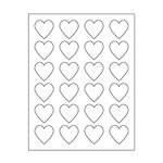 Maya Road - Kraft DIY Stickers - 1.5 Inch Hearts