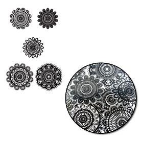Maya Road - Printed Transparency Pieces - Doilies - Black