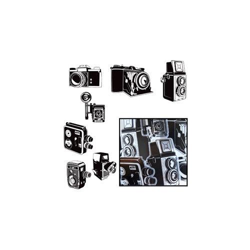 Maya Road - Transparency Die Cut Pieces - Say Cheese Camera - Black