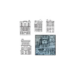 Maya Road - Transparency Die Cut Pieces - Our Town - Black