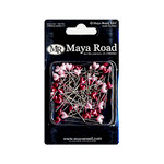 Maya Road - Trinket Pins Collection - Red and Pink Hearts, CLEARANCE