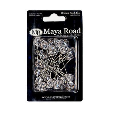 Maya Road - Trinket Pins Collection - Clear Crystals