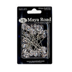 Maya Road - Trinket Pins Collection - Clear Crystals