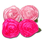 Maya Road - Trinket Blossoms Collection - Satin Posies - Mauve and Bright Pink, CLEARANCE