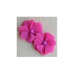 Maya Road - Vintage Gauze Blossoms - Hot Pink