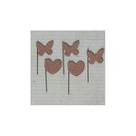 Maya Road - Vintage Trinket Pins - Heart and Butterfly - Kraft