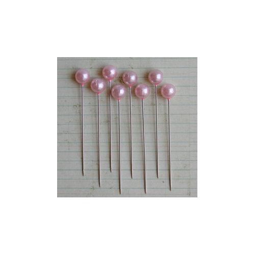 Maya Road - Vintage Trinket Pins - Pearl Ball - Pale Pink