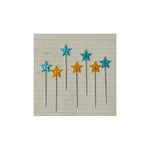 Maya Road - Vintage Trinket Pins - Stars - Yellow and Turquoise