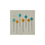 Maya Road - Vintage Trinket Pins - Stars - Yellow and Turquoise