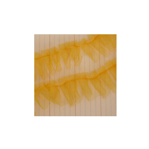 Maya Road - Trim - Tulle Pleat - Lemon Yellow - 25 Yards