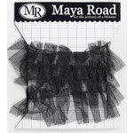 Maya Road - Trim - Tulle Pleat - Licorice Black - 1 Yard