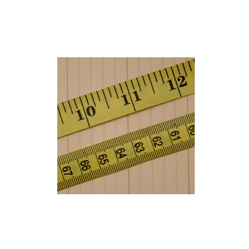 Maya Road - Trim - Vintage Tape Measure - Yellow