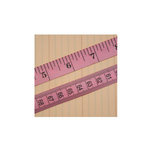 Maya Road - Trim - Vintage Tape Measure - Pink