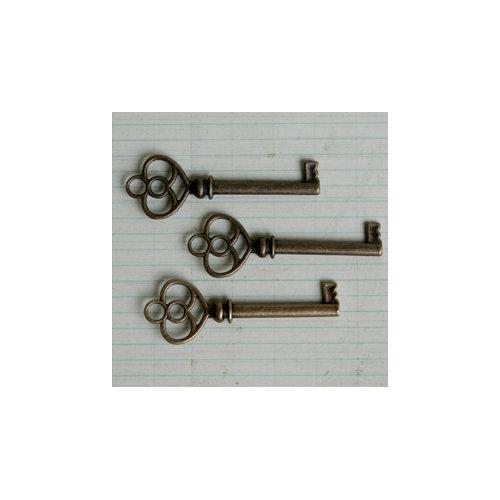 Maya Road - Metal Embellishments - Antique Skeleton Key