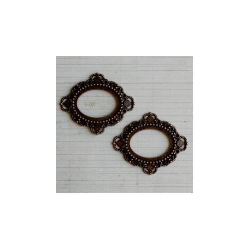 Maya Road - Vintage Findings - Metal Embellishments - Antique Ornate Frames