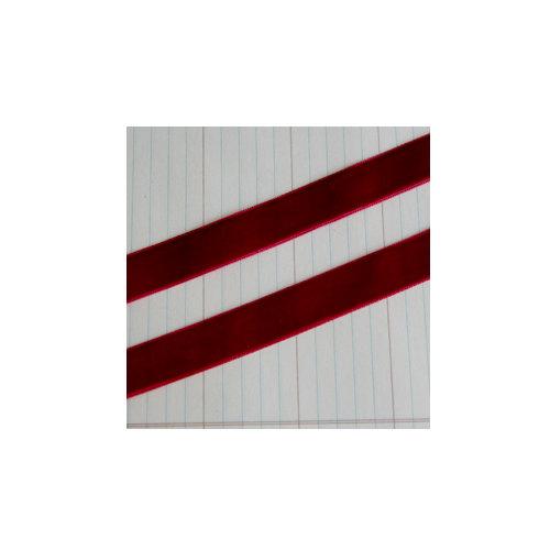 Maya Road - Velvet Ribbon Bands - Red - 25 Yards