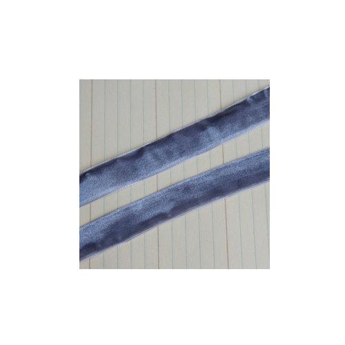 Maya Road - Velvet Ribbon Bands - Grey - 25 Yards