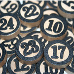 Maya Road - Wood Pieces - Bingo Calendar Numbers, CLEARANCE