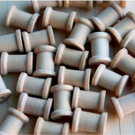 Maya Road - Wood Pieces - Mini Spools, BRAND NEW