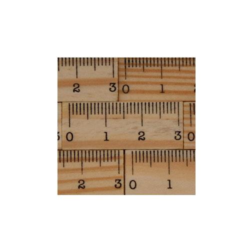 Maya Road - Wood Pieces - Vintage Tiny Ruler