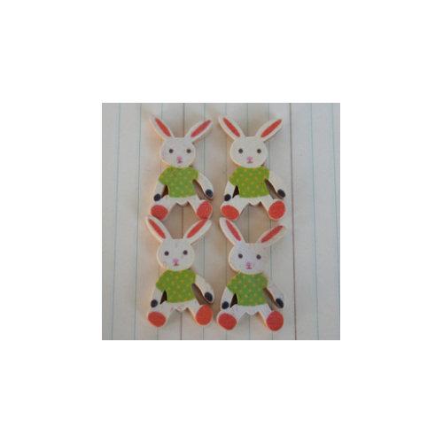 Maya Road - Wood Pieces - Vintage Rabbits - Boy