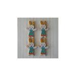 Maya Road - Wood Pieces - Vintage Rabbits - Girl