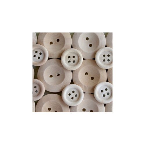 Maya Road - Wood Pieces - Natural Buttons